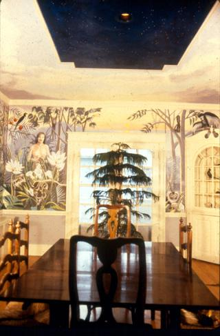 mural by Claude Buckley depicting a fictional jungle
