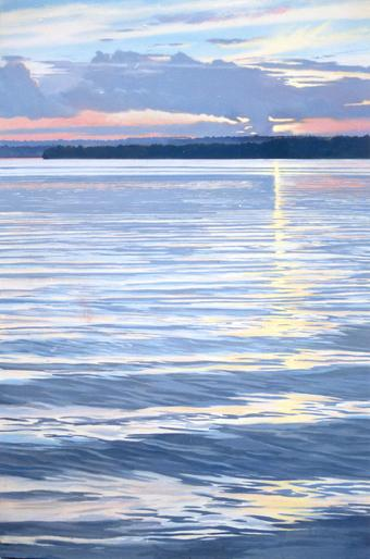Claude Buckley- Wateree Lake, 54 x 108 inches, Acrylic on canvas, Joseph Dental Associates Lobby, Camden, SC