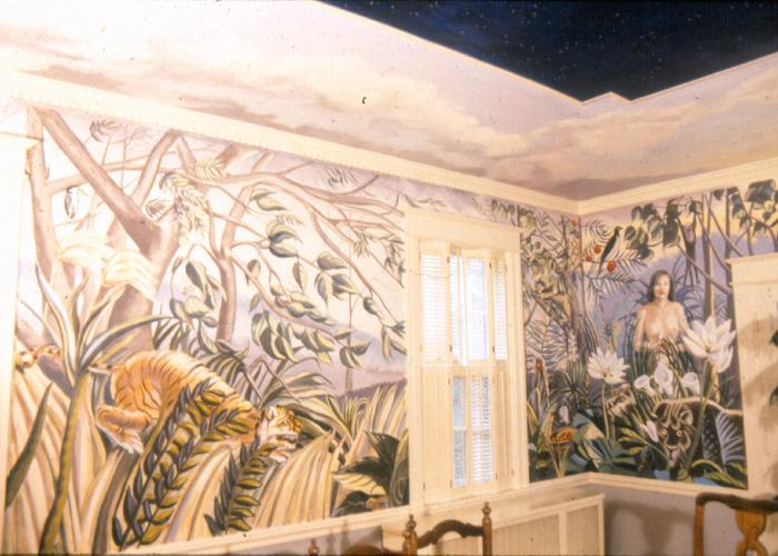 Mural by Claude Buckley- Washington BC, oil on masonite, dinningroom Washington DC