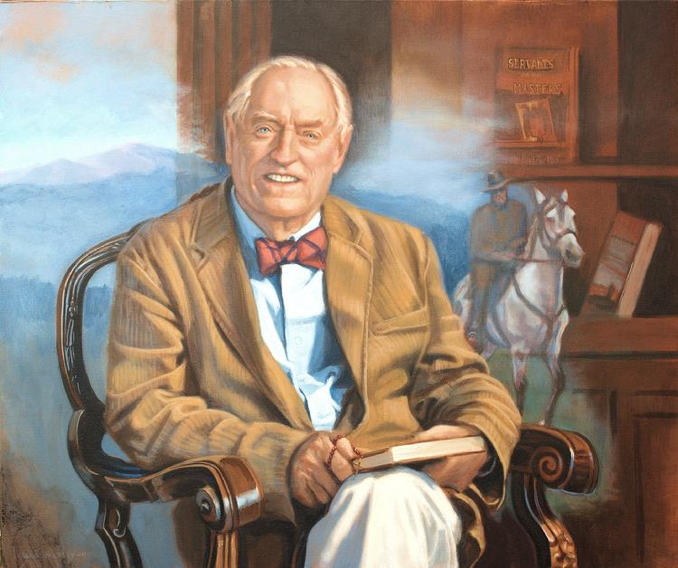Oil portrait by Claude Buckley of his father- Fergus Reid Buckley, 40 x 50 in, oil on canvas