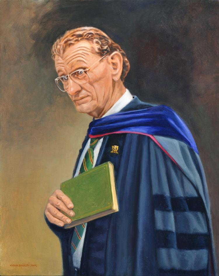 corporate oil portrait by Claude Buckley- Dr. Eric W, Naylor, The University of the South, 24 x 30 in, oil on canvas