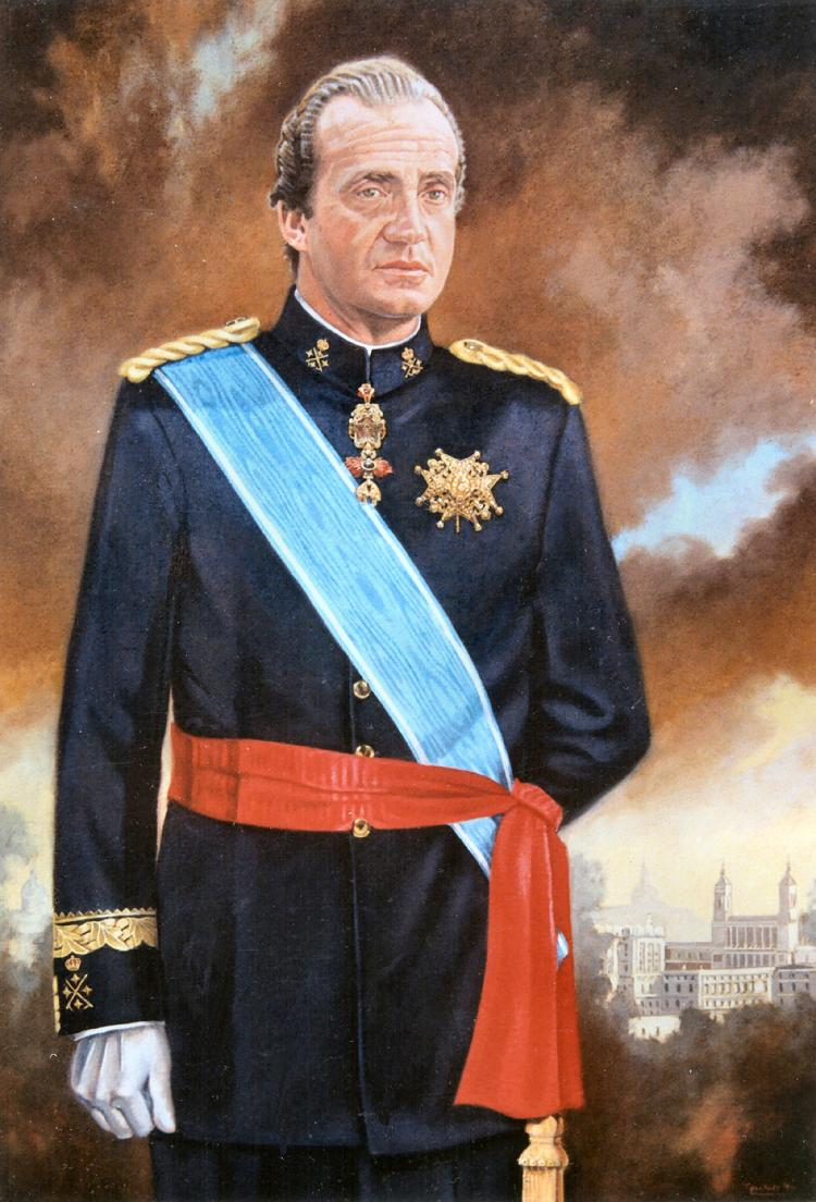 official and corporate oil portrait of the king of Spain by Claude Buckley- The King of Spain, Juan Carlos I