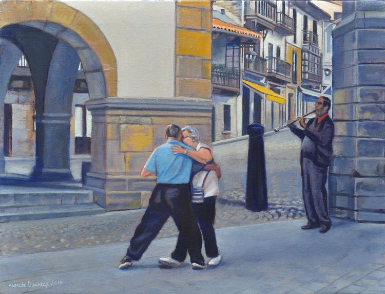 Oil painting by Claude Buckley- Save That Last Dance For Me 18.11 x 24.01 in (46 x 61 cm), oil on canvas, 2016, Comillas