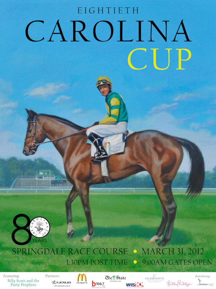 poster for the Carolina Cup by  March 2012 - Carolina Cup poster. Available at the National Steeplechase Museum, Camden, SC