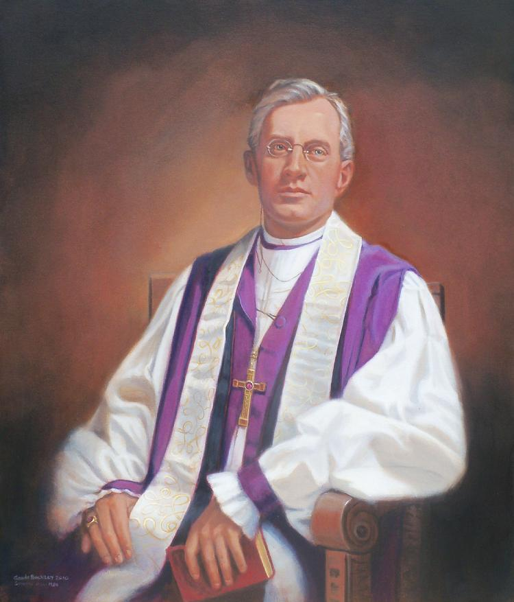oil portrait by Claude Buckley- Rt Rv John D. Bratton, The University of the South, Sewanee, TN