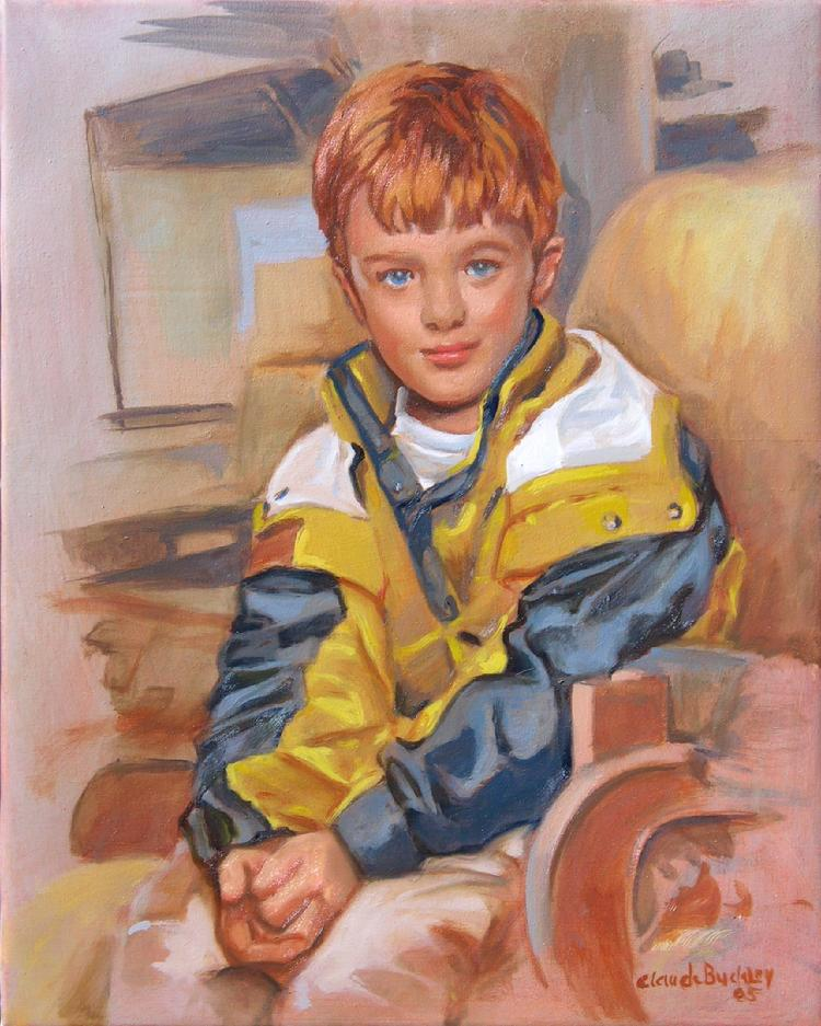 oil portrait by Claude Buckley- Mr. James Kimball  30 x 24 in oil on canvas